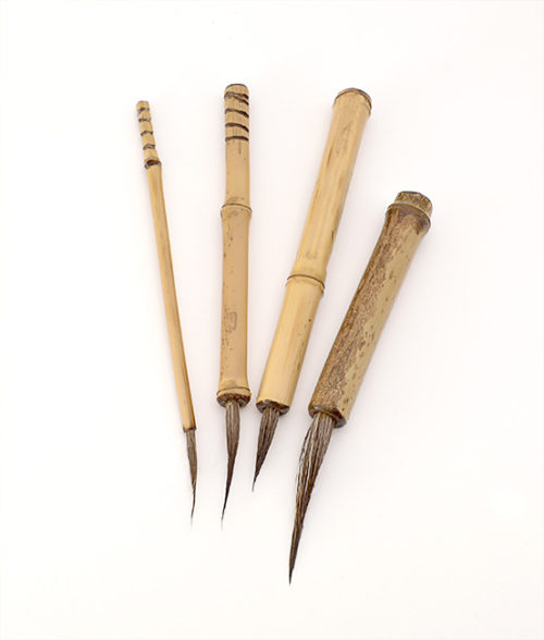 Set of Small through XL Deer brushes