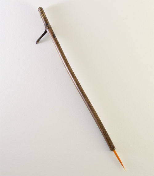 Orange Synthetic, with bamboo cane handles