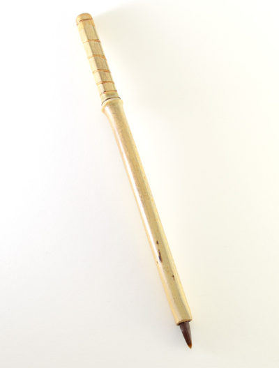 Brown Synthetic, with bamboo cane handles
