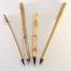 Small, Medium Wangi Medium and large Size Goat Synthetic blend brushes with 1 inch bristle length.