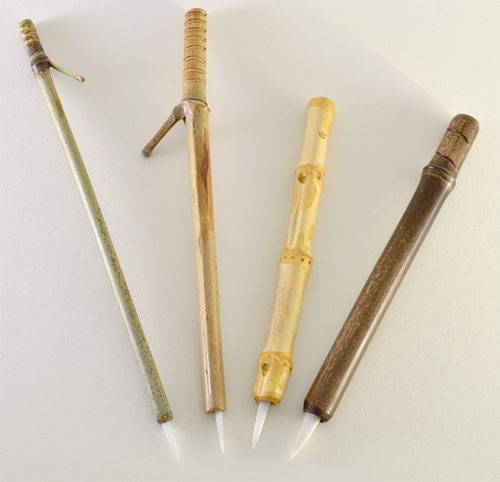1 inch bristle length Soft White Synthetic, with bamboo cane handle set.