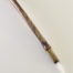 "Small size 2"" bristle length Stiff White Synthetic, with bamboo cane handle."