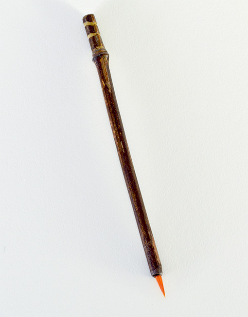 Itty Bitty Orange Synthetic, with bamboo cane handles