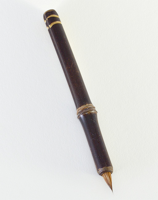 "Medium Siberian Elk ½"" long bristle with Bamboo cane handle. Unmatched for any water based media or ink."