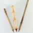"""½"""" long Brown Synthetic bristle set, with bamboo cane and wangi bamboo handless"""