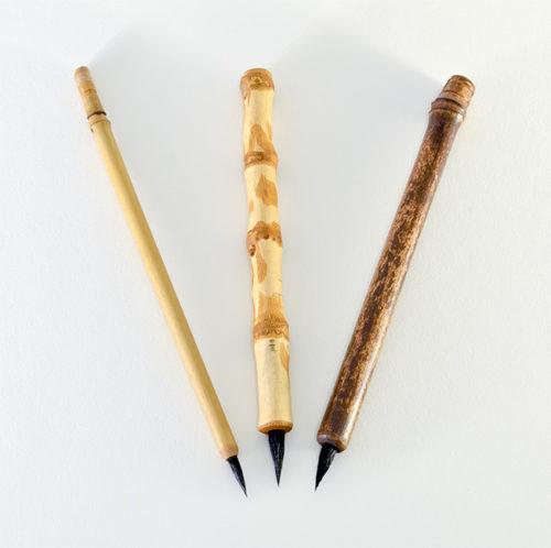 """1/2"""" long Goat brush bristle set with bamboo cane and wangi bamboo handles"""