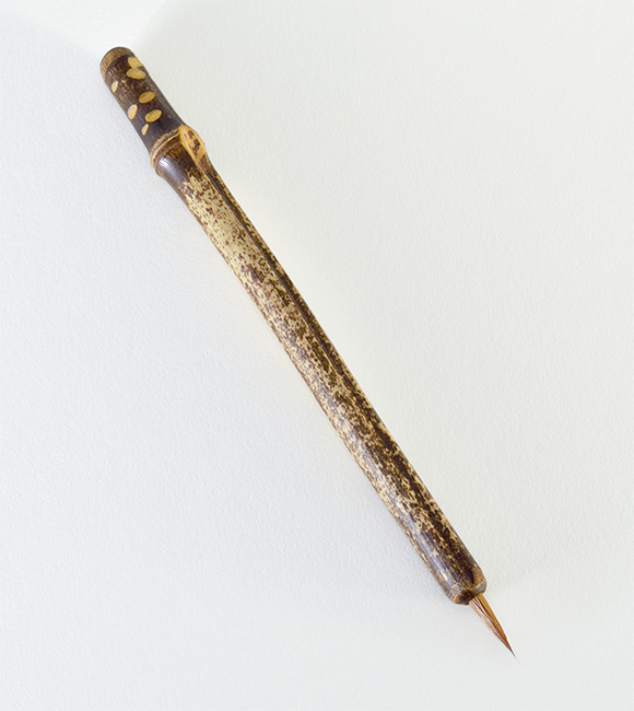 "Small Siberian Elk ½"" long bristle with Bamboo cane handle. Unmatched for any water based media or ink."