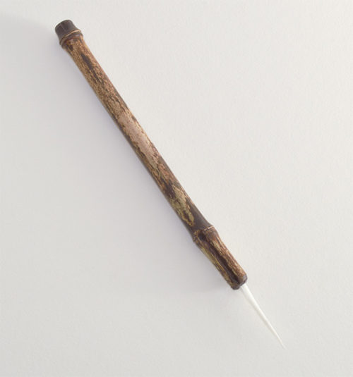 "1.5"" Soft White Synthetic bristle with bamboo cane handle."
