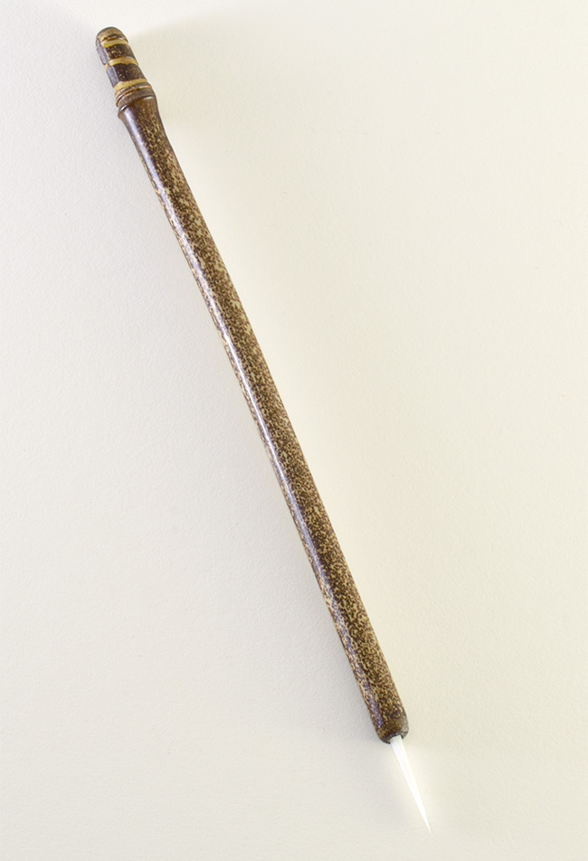 """1"""" Soft White Synthetic bristle with bamboo cane handle."""