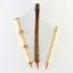"""1/2"""" Orange Synthetic bristle set, with bamboo cane and wangi bamboo handless"""